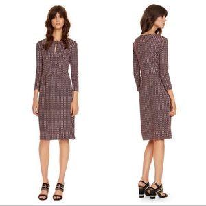Tory Burch Geometric Print Silk Jersey Dress SZ S